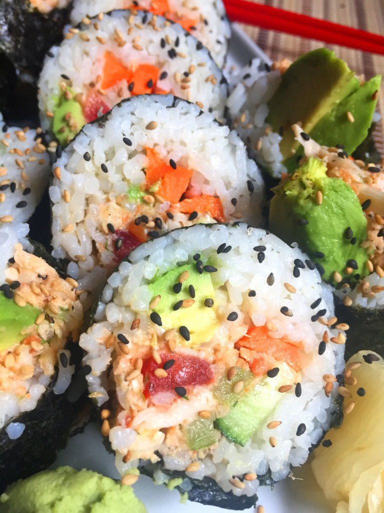 Recipe for vegan crap California roll