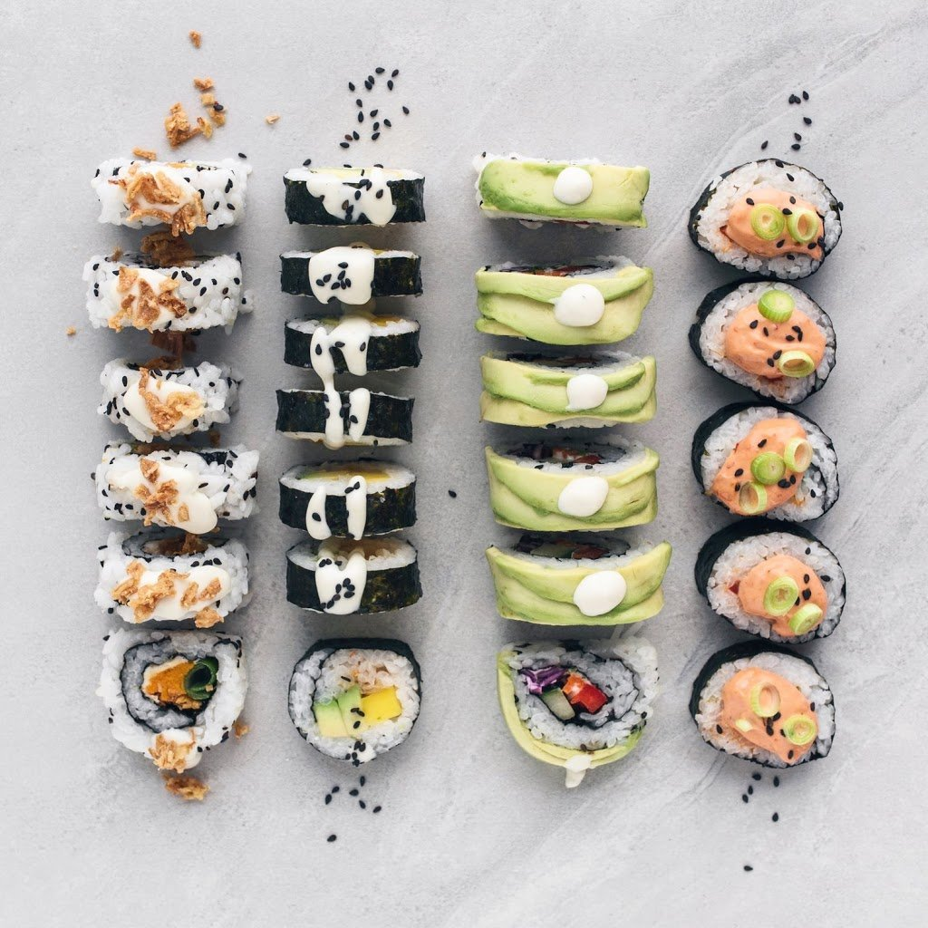 Recipe for homemade vegan sushi