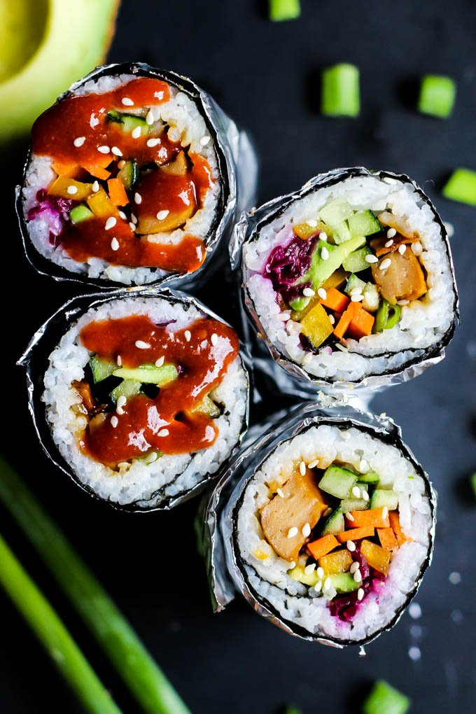Recipe to make a vegan Teriyaki Sushi Burrito