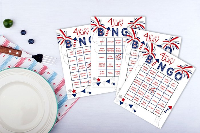 Playing bingo is another one of the 4th of July traditions in this post.