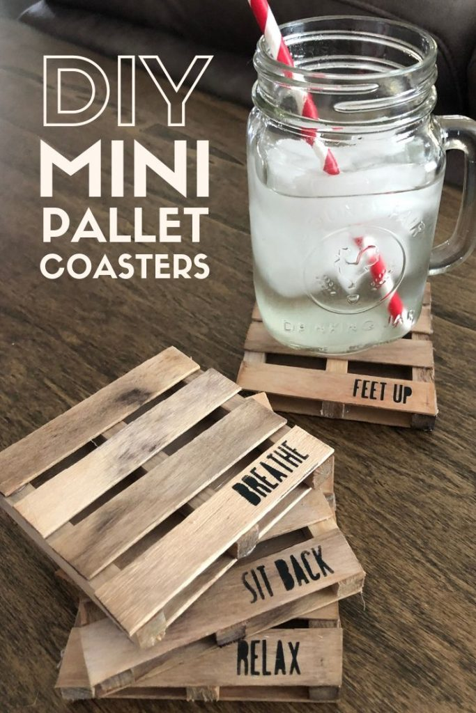 How to make your own mini pallet coasters
