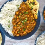 vegan chickpea spinach curry