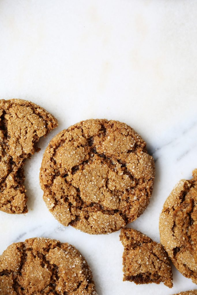 This recipe for ginger molasses cookies is one of the vegan cookie recipes