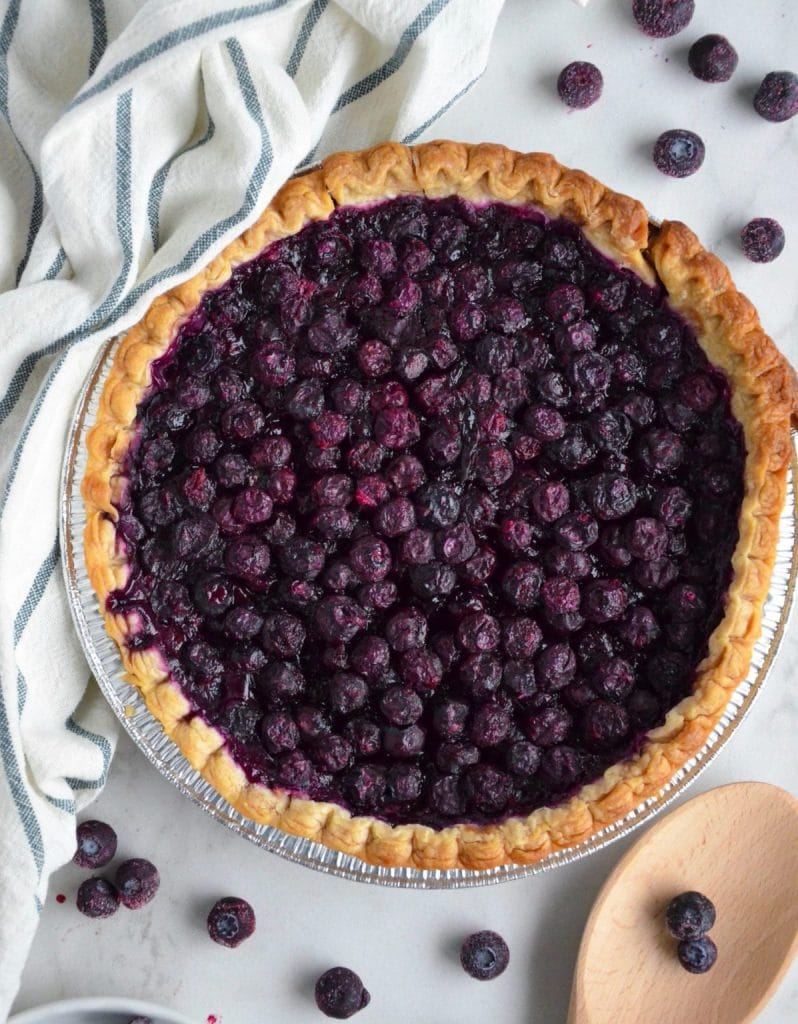 Recipe for vegan blueberry pie