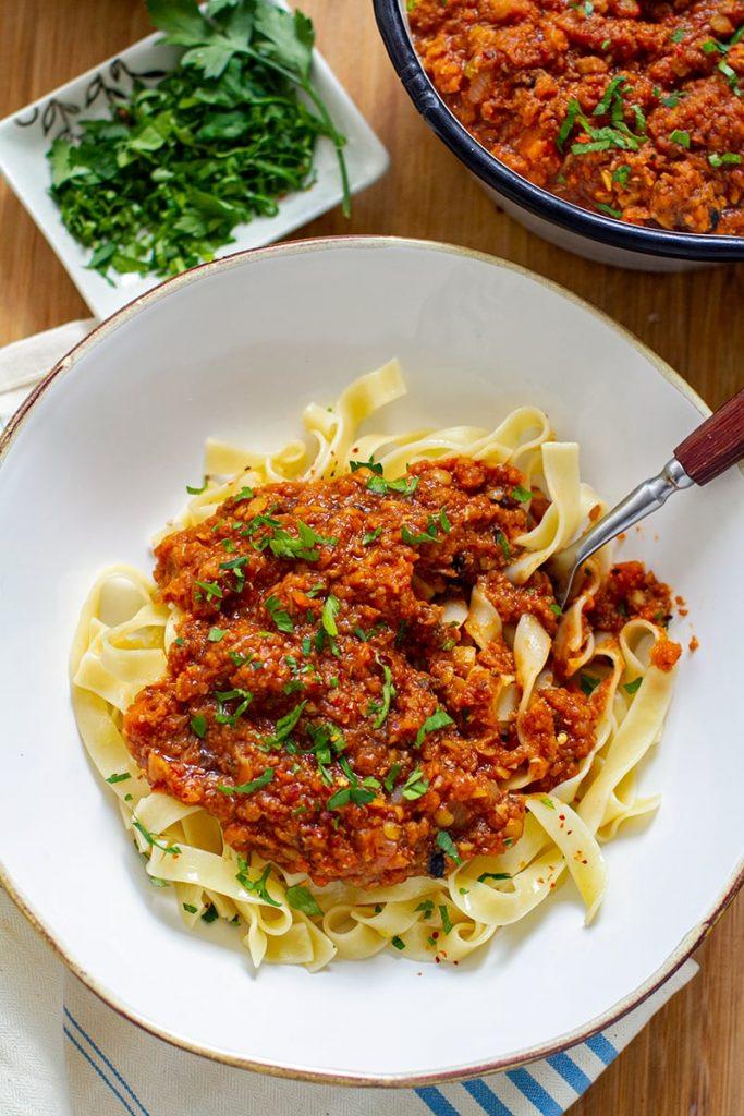 Recipe for vegan Bolognese Sauce