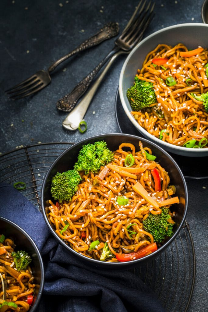 This recipe for chow mein is one of the vegan instant pot recipes in this post.