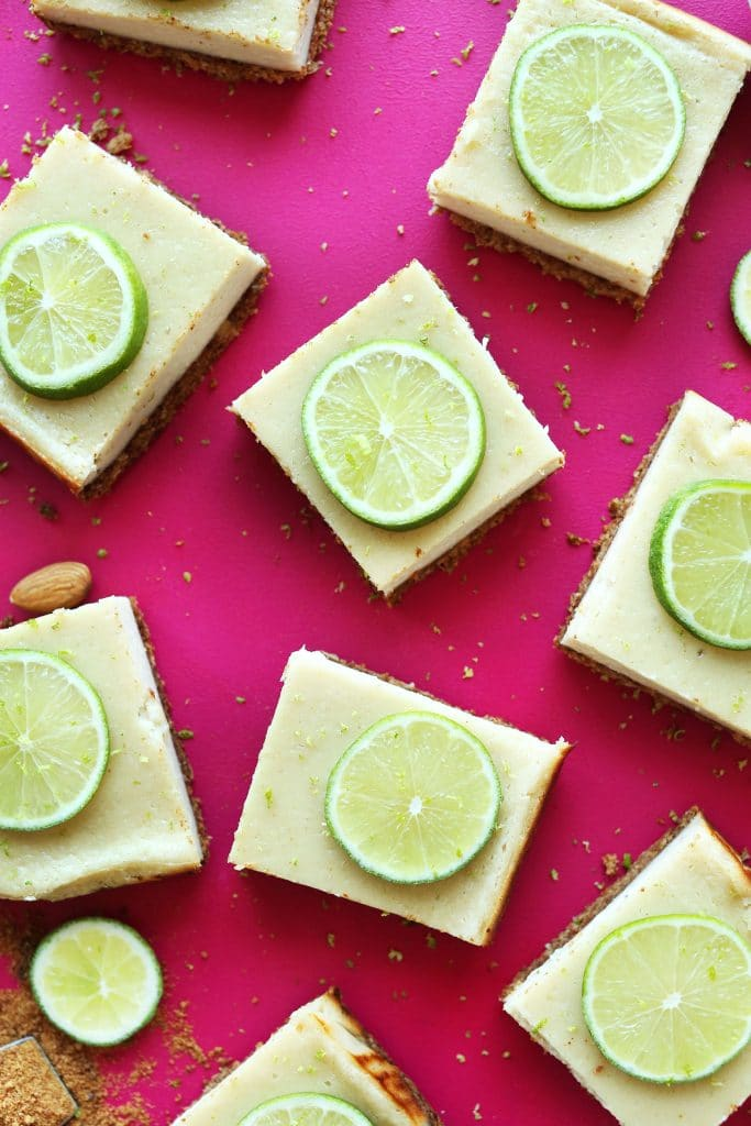 Recipe for vegan key lime pie bars