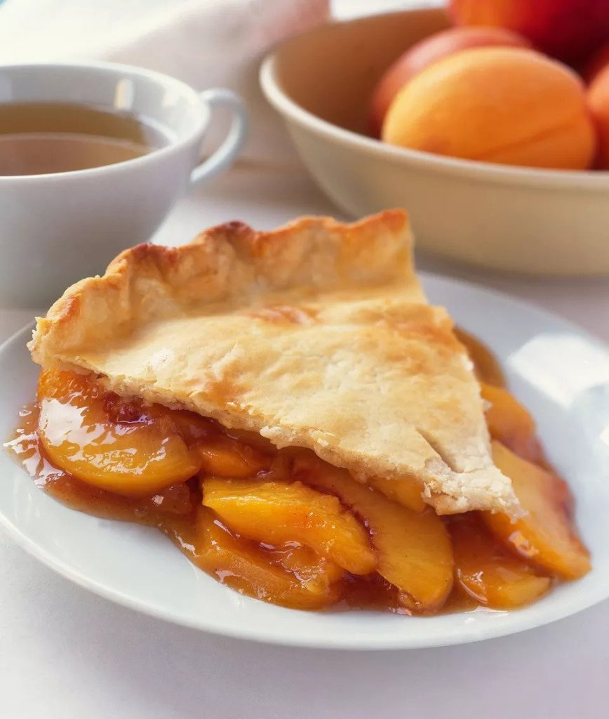 Recipe for vegan peach pie