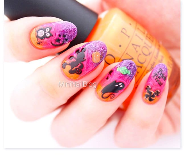 Disney Halloween nail art