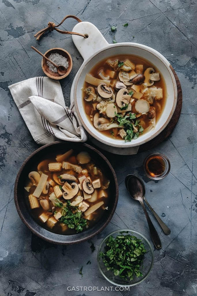 Recipe for vegan Hot and Sour Soup