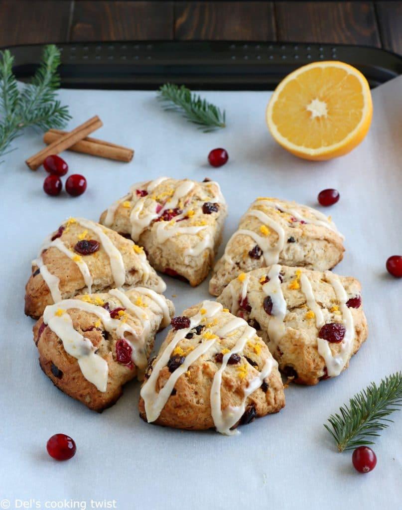 Recipe for vegan Orange Cranberry Scones
