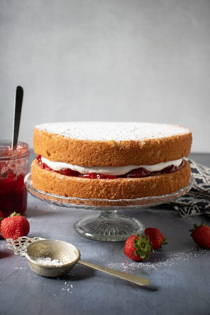 Recipe for vegan sponge cake