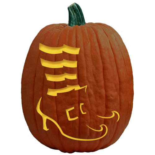 witch feet jack-o-lantern carving
