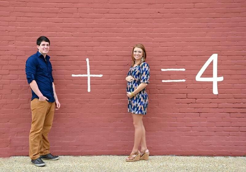 announce pregnancy with math