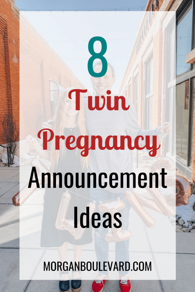 list of twin pregnancy announcement ideas