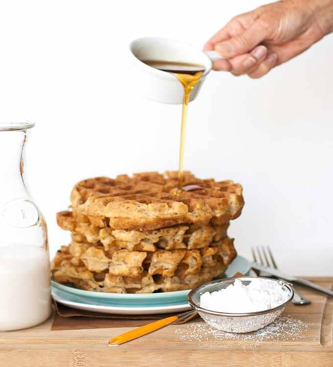 Recipe for vegan Belgian Waffles
