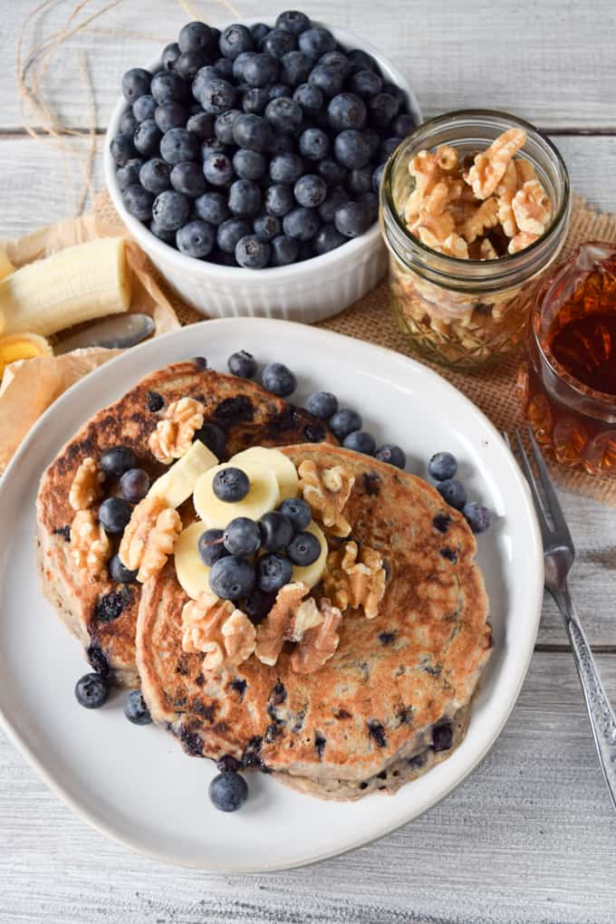 Recipe for vegan Blueberry Pancakes