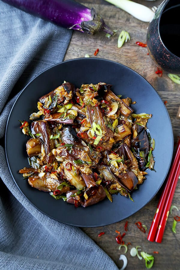 Recipe for vegan Chinese Eggplant with Garlic Sauce