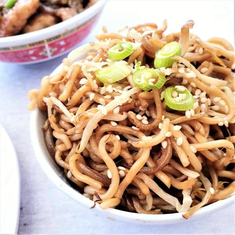 Recipe for vegan chow mein