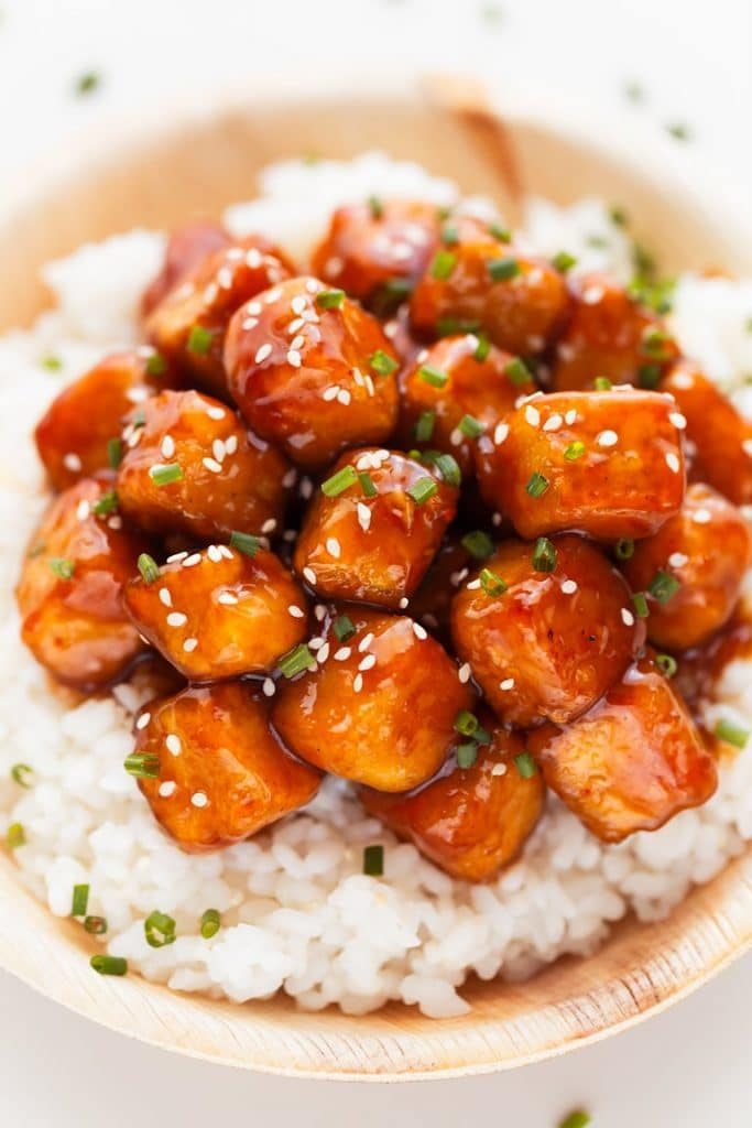 Recipe for vegan General Tso's Tofu
