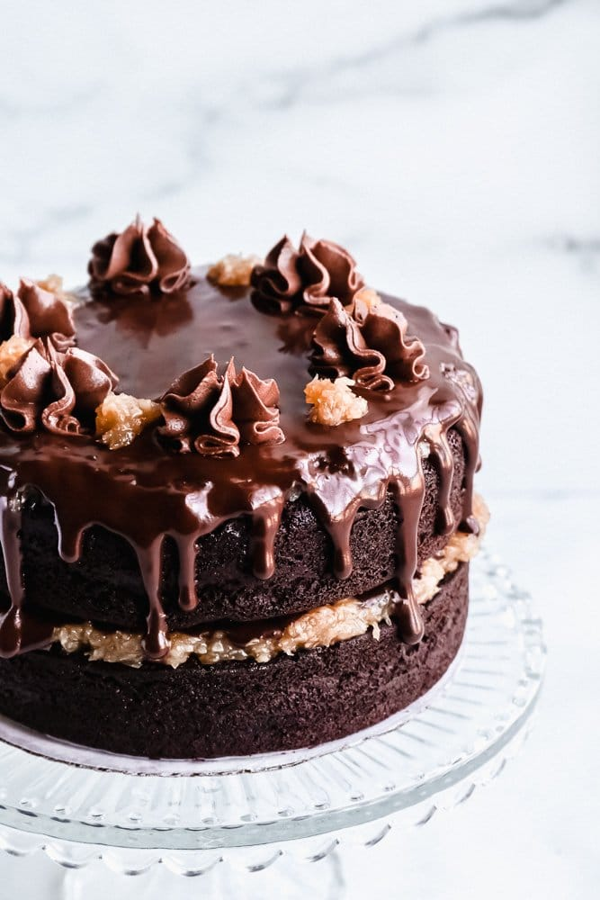 Recipe for vegan German Chocolate Cake