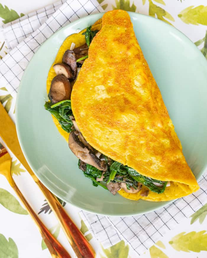 Recipe for vegan omelet