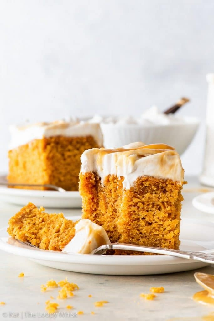 Recipe for vegan Pumpkin Cake with Butterscotch Frosting