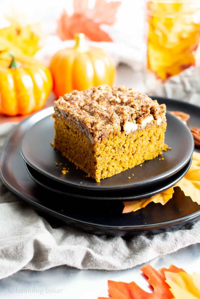 Recipe for vegan pumpkin coffee cake