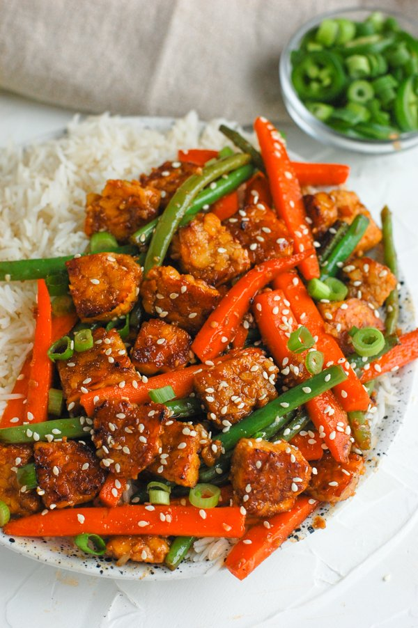 Recipe for vegan Sesame Ginger Tempeh
