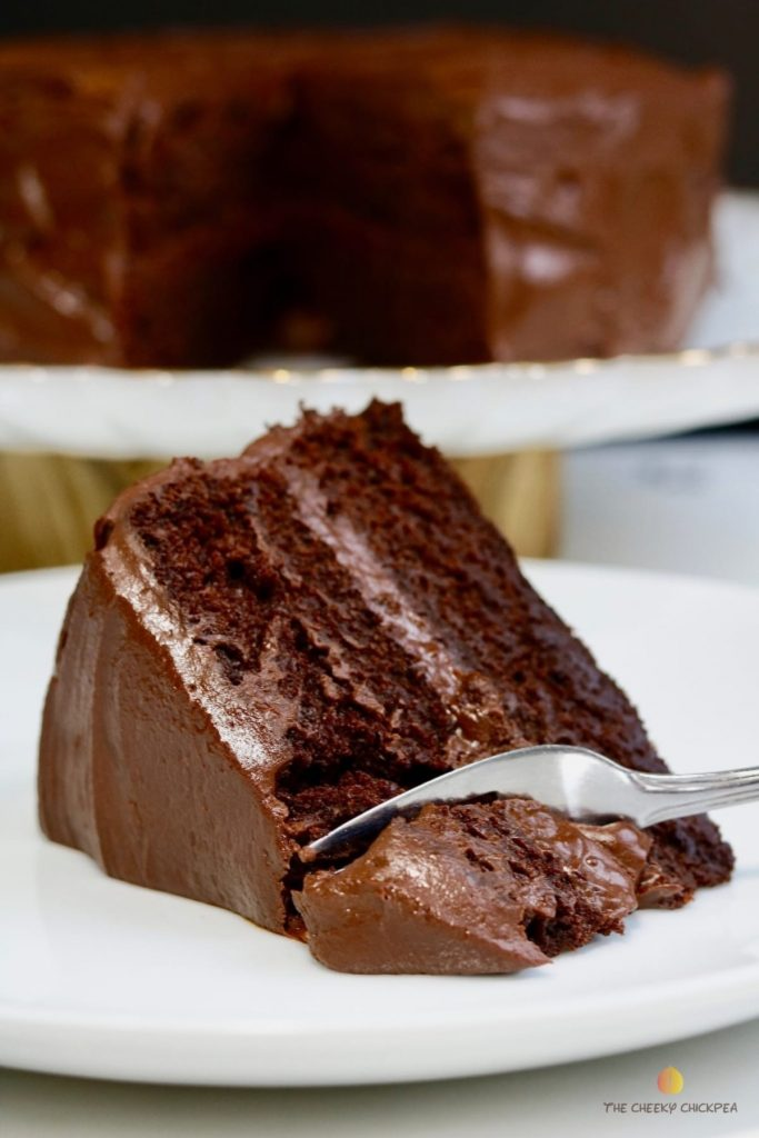 Recipe for vegan chocolate cake