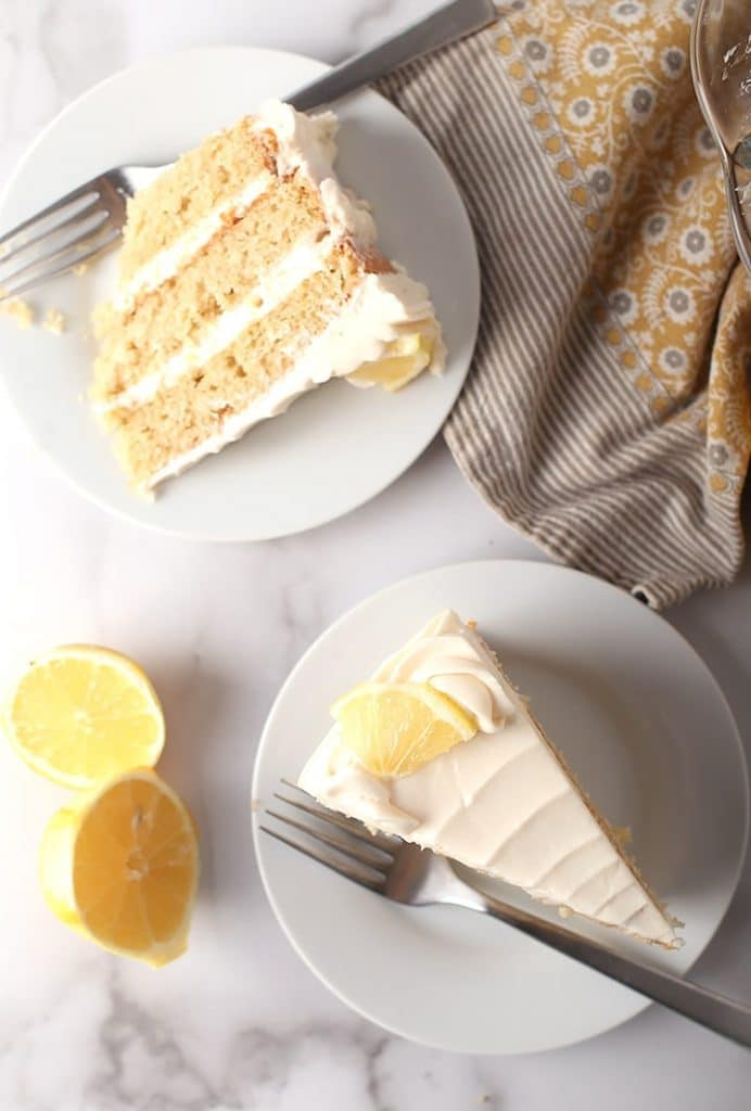 Recipe for vegan lemon cake