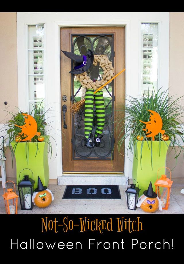 Wicked witch halloween porch