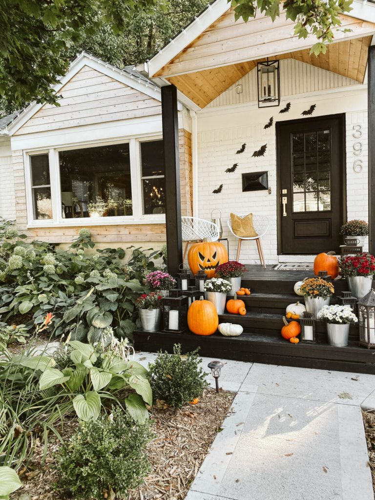 Transition fall porch to a Halloween porch
