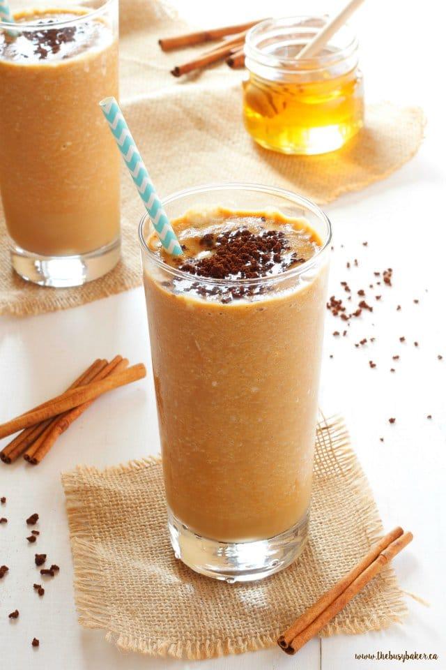 Recipe for vegan Pumpkin Spice Frappuccino