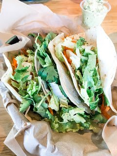 Vegan tacos from Zao Asian Cafe