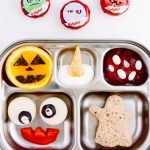 bento box with ghost sandwich