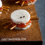 pb and j spider sandwiches