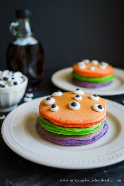 Recipe for Trick or Treat Pancakes