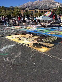 Chalk the block is one of the fall activities in Utah recommended in this list.
