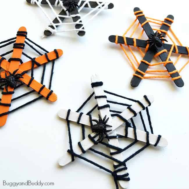 If you're looking for a Halloween craft to do with your kids, consider making this spider web craft.