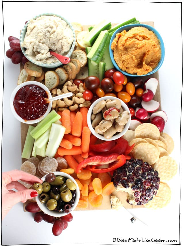 Dips and Veggies Charcuterie Board