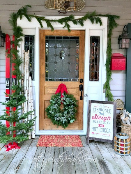 Red and Green Front holiday Porch