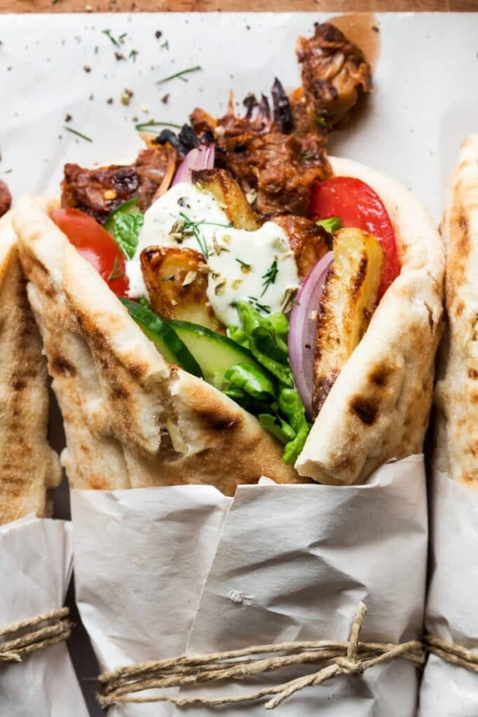 This recipe for gyros is one of the vegan Greek recipes in this post.