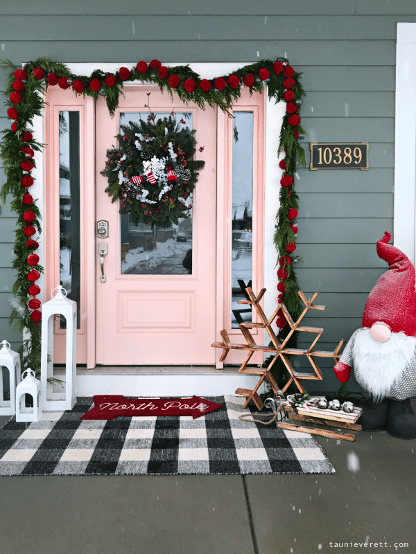 Decorate your porch with a big gnome.