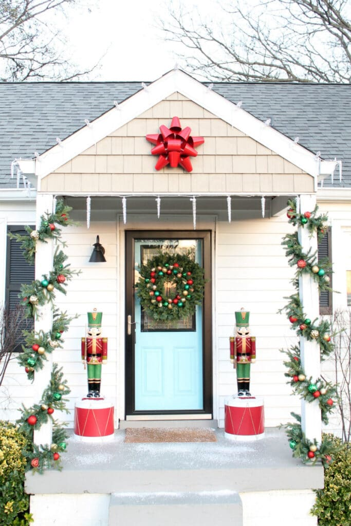 Decorate your porch with nutcrackers