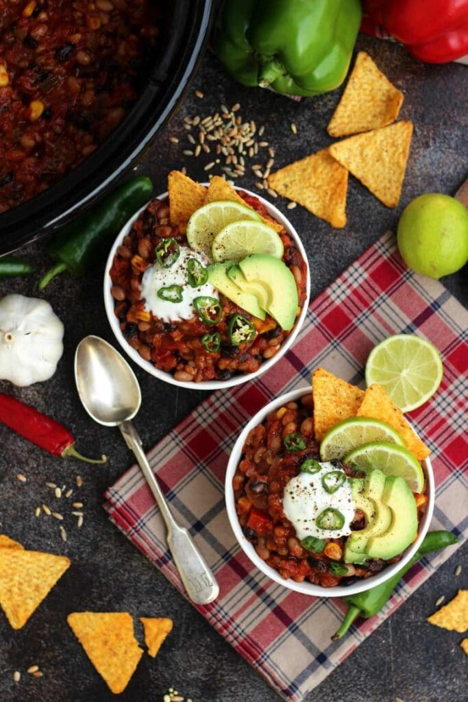 Recipe for vegan Chili
