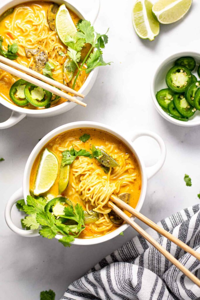 This recipe for Curry Ramen Noodles is one of the vegan ramen recipes in this post.