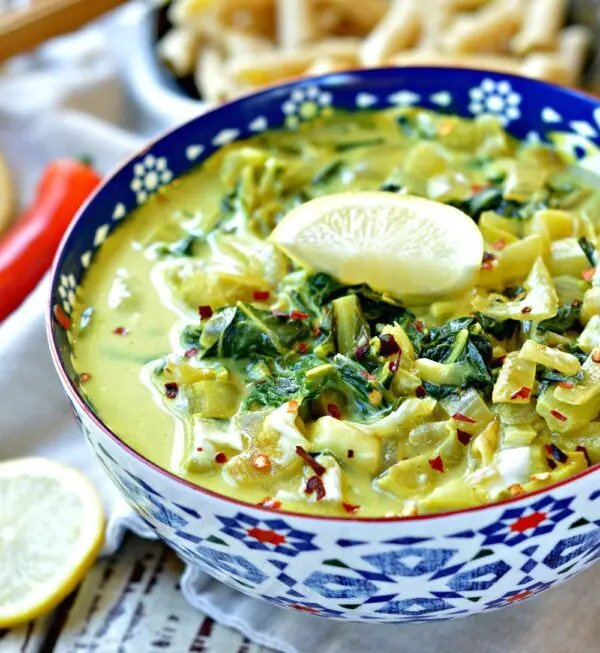 Recipe for vegan Indian Curry With Bok Choy