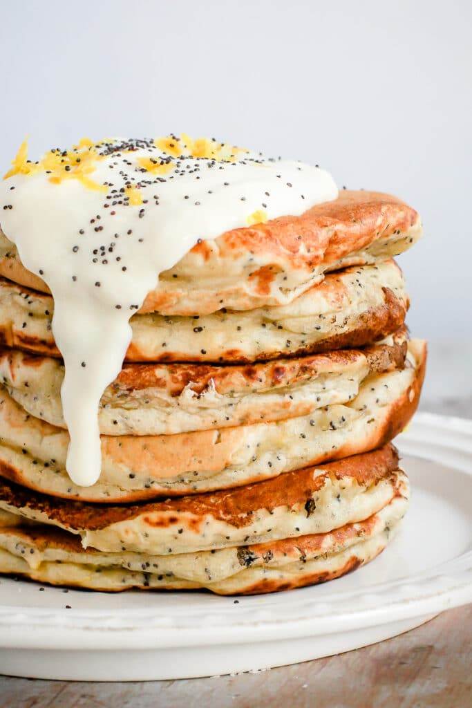 This recipe for Lemon Poppy Seed Pancakes is one of the vegan pancake recipes in this post.