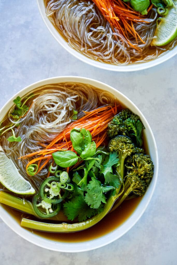 This recipe for Pho is one of the vegan Vietnamese recipes in this post.